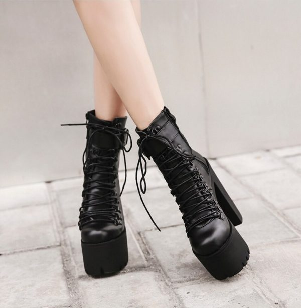 Leather Motorcycle Boots Women