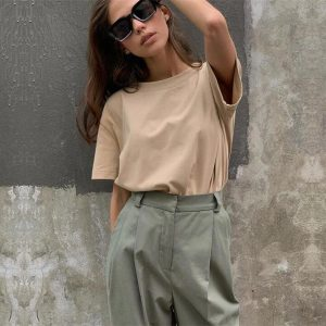 Softgirl Oversized Solid T-Shirt